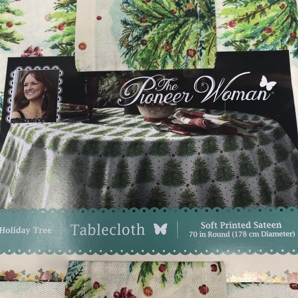 The Pioneer Woman Other - The Pioneer Woman Holiday Tree Cheer Tablecloth
